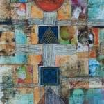 Salamiyyeh, 2008, mixed media on paper, 68 x 38 cm
