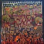 Diary, 2011, acrylic on canvas, 107 x 107 cm