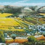 Qabalan (Nablus), 2016, oil on canvas, 73 x 104 cm