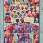 Jeebya, 2017, mixed media on paper, 65 x 50 cm