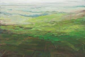 Rafat Asad, Marj Ibn Amer #18, 2015, acrylic on canvas, 60 x 80 cm