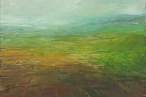 Rafat Asad, Marj Ibn Amer #14, 2015, acrylic on canvas, 60 x 60 cm