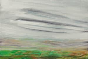 Rafat Asad, Marj Ibn Amer #16, 2015, acrylic on canvas, 60 x 60 cm