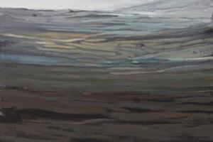 Rafat Asad, Marj Ibn Amer #13, 2015, acrylic on canvas, 60 x 60 cm