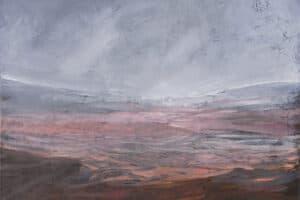 Rafat Asad, Marj Ibn Amer #4, 2014, acrylic on canvas, 70 x 90 cm