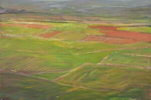 Rafat Asad, Marj Ibn Amer #10, 2015, acrylic on canvas, 80 x 90 cm