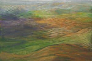 Rafat Asad, Marj Ibn Amer #11, 2015, acrylic on canvas, 90 x 90 cm