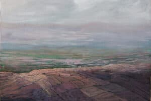 Rafat Asad, Marj Ibn Amer #22, 2015, acrylic on canvas, 100 x 138 cm