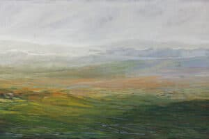 Rafat Asad, Marj Ibn Amer #21, 2015, acrylic on canvas, 100 x 165 cm
