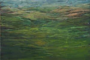 Rafat Asad, Marj Ibn Amer #6, 2015, acrylic on canvas, 150 x 100 cm