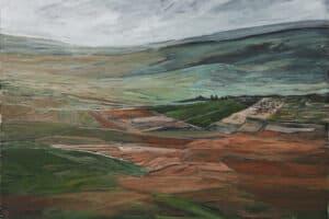 Rafat Asad, Marj Ibn Amer #9, 2015, acrylic on canvas, 120 x 130 cm