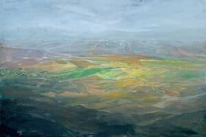 Rafat Asad, Marj Ibn Amer #3, 2014, acrylic on canvas, 150 x 200 cm