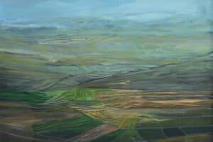 Rafat Asad, Marj Ibn Amer #1, 2014, acrylic on canvas, 120 x 120 cm