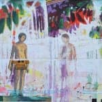 Narkis, 2014, mixed media on canvas, 98 x 158 cm