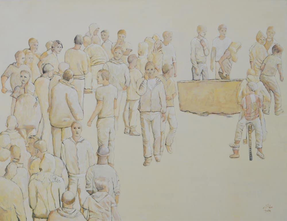 Jawad Al Malhi, Measures of Uncertainty IV, 2013, oil on canvas, 155 x 210 cm