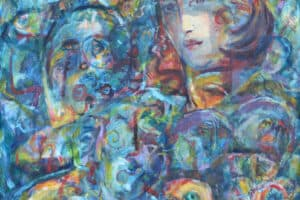 Shafik Radwan, Psychological Emotions, 2012, acrylic on canvas, 100 x 100 cm
