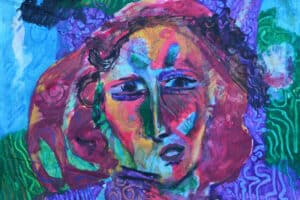 Shafik Radwan, Untitled, 2014, mixed media on canvas, 26 x 33 cm