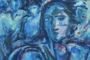 Shafik Radwan, Unknown Fate, 2006, acrylic on canvas, 60 x 60 cm
