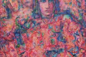 Shafik Radwan, Palestine I, 2015, acrylic on canvas, 150 x 120 cm