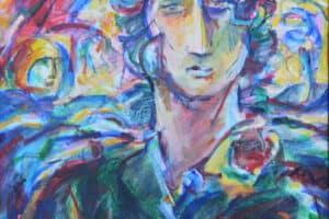 Shafik Radwan, Untitled, 2011, acrylic on canvas, 60 x 60 cm