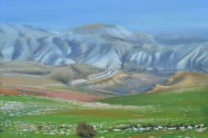 Taqi Sabateen, Doma, 2015, acrylic on canvas, 50 x 60 cm