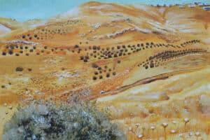 Taqi Sabateen, Al Eizariya, 2015, acrylic on canvas, 60 x 80 cm