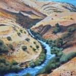 Jordan River, 2015, acrylic on canvas, 80 x 60 cm