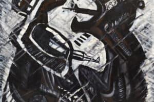 Bashir Abu-Rabia, Resistance, 2009, oil on canvas, 168 x 148 cm