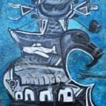 Chaos III, 2016, oil on canvas, 168 x 148 cm