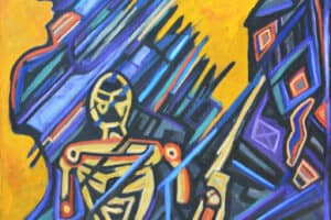 Bashir Abu-Rabia, Chaos IV, 2016, oil on canvas, 170 x 150 cm