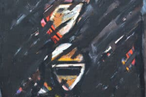 Bashir Abu-Rabia, Chaos I, 2016, oil on canvas, 130 x 100 cm