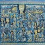 Nabil Anani, Motifs II, 2013, acrylic on canvas, 100 x 115 cm