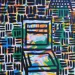 Ibrahim Nubani, Untitled II, 2015, acrylic on canvas, 120 x 90 cm
