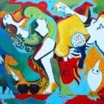Metamorphosis, 2017, acrylic on canvas, 100 x 140 cm