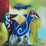 Breed I, 2017, acrylic on canvas, 70 x 70 cm