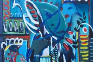 Karim Abu Shakra, Nostalgia, 2017, acrylic on canvas, 60 x 60 cm