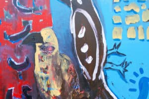 Karim Abu Shakra, Arabi I, 2017, acrylic on canvas, 60 x 60 cm
