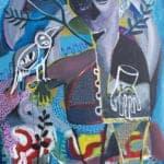 Arabi I, 2017, acrylic on canvas, 140 x 100 cm