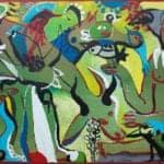 Paradise I, 2017, acrylic on canvas, 129 x 208 cm
