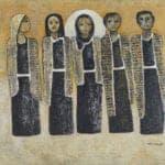 Holy Family III, 2016, acrylic on canvas, 101 x 118 cm