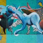 Manifestation, 2017, acrylic on canvas, 140 x 300 cm