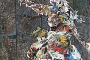 Tayseer Barakat, Quest for Freedom, 2016, acrylic on canvas, 165 x 125 cm