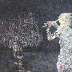 Tayseer Barakat, The Flute Player, 2015, acrylic on canvas, 150 x 118 cm