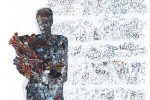 Tayseer Barakat, Nostalgia, 2016, acrylic on canvas, 165 x 125 cm