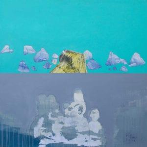 Hosni Radwan, Out of Place #5, 2017, acrylic on canvas, 140 x 140 cm