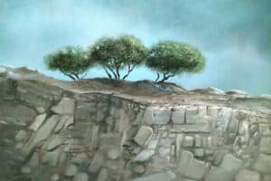 Durar Bacri, Golan Heights #2, 2020, oil on canvas, 40 x 50 cm