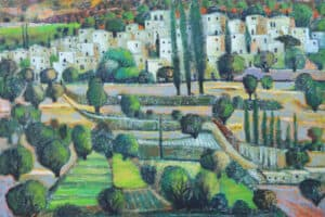Battir, 2013, acrylic on canvas, 100 x 110 cm