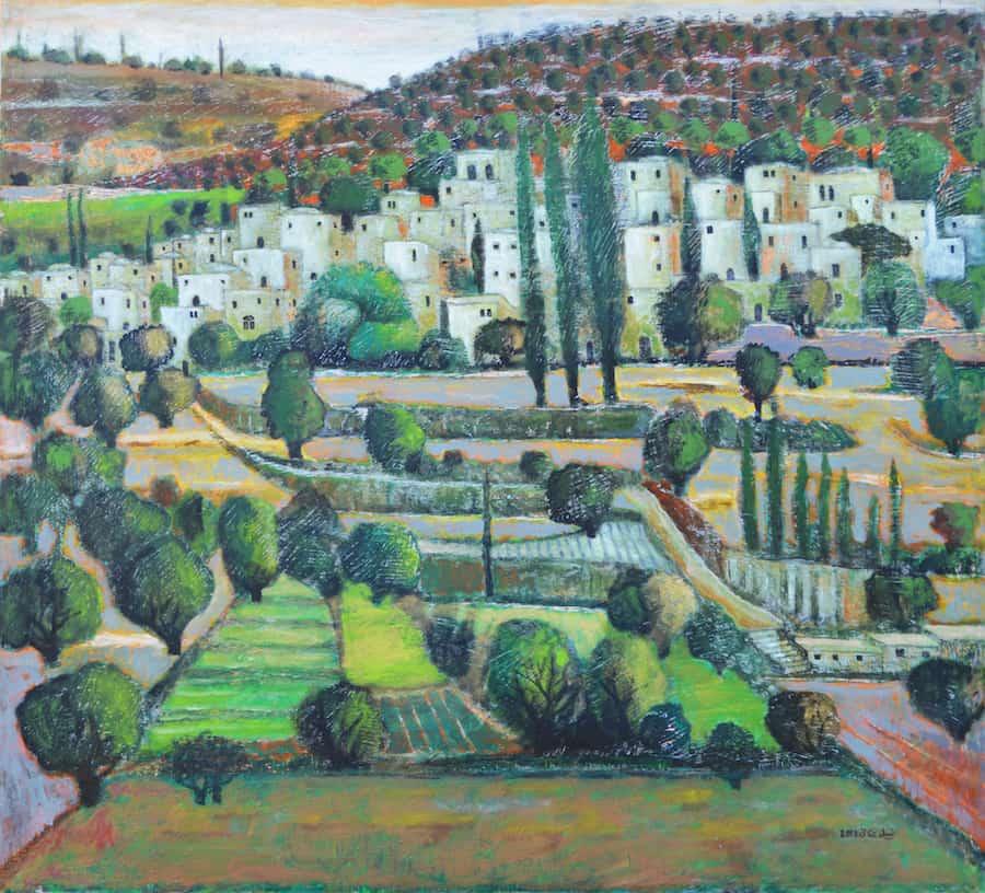 Battir, 2013, acrylic on canvas, 100 x 110 cm