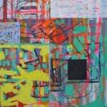 Untitled, 2015, acrylic on canvas, 130 x 130 cm