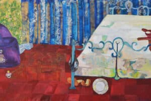 Rana Samara, Intimate Space IX, 2015, acrylic on canvas, 170x290 cm